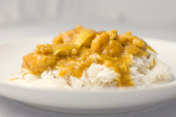 Curry Poulet mit Reis